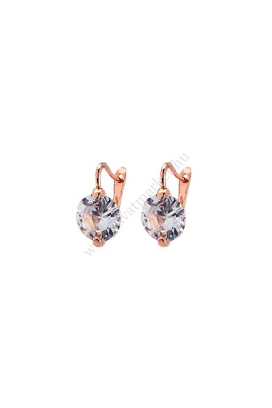 AUGUSTA ékköves fülbevaló cirkónia kristály, 585 rózsaarany bevonatú, rövid fülbevaló. Angolkék színű, 12 milliméteres természetes cirkónia kristály díszíti ezt a roppant elegáns fülbevalót. 585 rózsaarany bevonatú, rövid fazonú, bekapcsolása a népszerű f