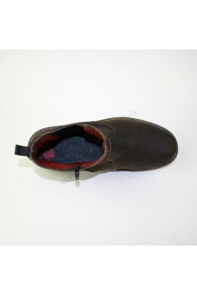 Eredeti RIEKER ANTISTRESS férfi bőr magas szárú cipő/bakancs, kellemes sötétbarna színben, belső oldala cipzáras, külső oldala szélesen gumírozott, bélelt, uk9 44 méretben Állapota: újszerű Belső talphossz: 28.5 cm Sarokmagasság: 3 cm