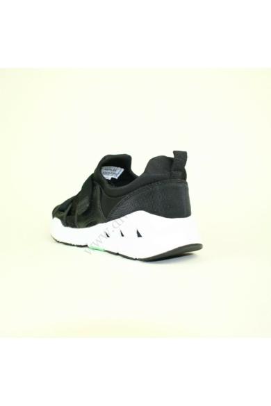 Eredeti REPLAY női sportcipő, kellemes fekete színben, RS390007S modell, pántja gumis és tépőzáras, lábfej része áttört mintás, uk7 41 méretben Állapota: új és címke nélküli Belső talphossz: 26 cm Sarokmagasság: 2 cm