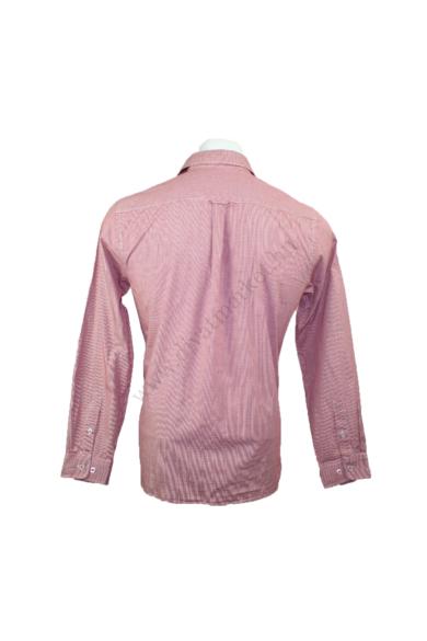 Eredeti PETER WERTH férfi hosszú ujjú ing, kellemes piros színben, 100% pamut anyagösszetételű, kockás mintázatú, L méretben, állapota: újszerű, mért adatok: váll szélesség: 44 cm mellszélesség: 56 cm hossz: 74 cm ujjhossz: 64 cm