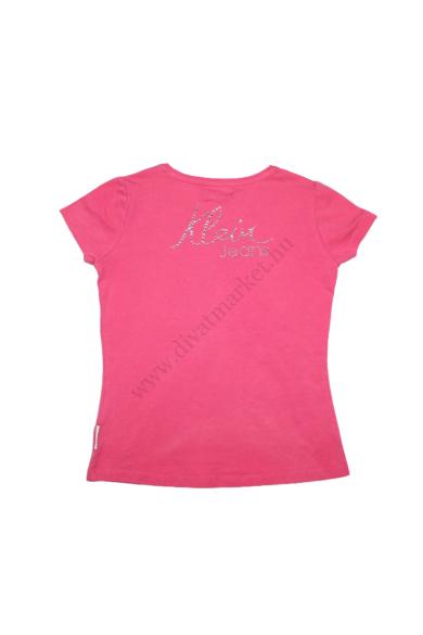 Eredeti CALVIN KLEIN lány rövid ujjú póló, 5-6 éves 110-116 cm méretben, állapota: újszerű, mért adatok: váll szélesség: 28 cm mellszélesség: 35 cm hossz: 45 cm ujjhossz: 9 cm