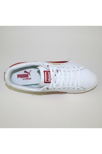 Eredeti PUMA női bőr sportcipő, kellemes piros, fehér színben, ART 352801 01 modell, ftwdm/fcndt típusszámú , eco ortholine talpbéléssel, kényelmes viseletet biztosít, uk6.5 40 méretben Állapota: újszerű Belső talphossz: 25.5 cm Sarokmagasság: 2 cm