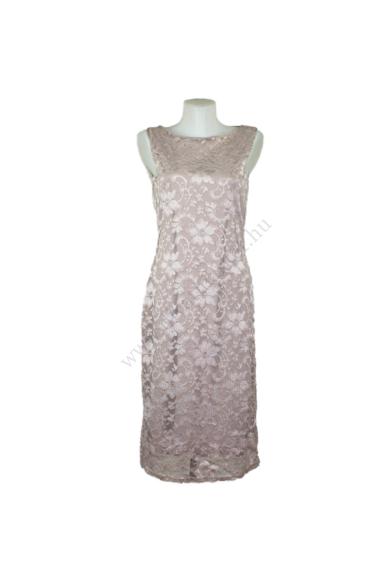 Eredeti BOOHOO női ruha, kellemes pezsgő színben, ujjatlan, egyenes fazonú csodás alsóruhás csipkeruha, kevertszálas anyagösszetételű (94 % nylon, 6 % elasztán), kényelmes viseletet biztosít, beleírt méret:uk14, L méretben, állapota: újszerű, mért adatok: