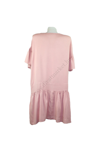 Eredeti ASOS női ruha, kellemes púder rózsaszín színben, 100% viskose anyagösszetételű, kellemes puha tapintású, kényelmes viseletet biztosít, beleírt méret:uk12, M méretben, állapota: újszerű, mért adatok: váll szélesség: 58 cm mellszélesség: 58 cm csípő