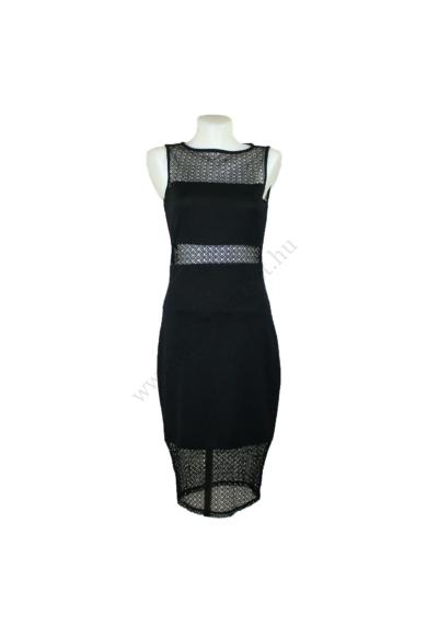 Eredeti RIVER ISLAND női ruha, kellemes fekete színben, csodaszép csipke díszítésű, rugalmas anyagú, kevertszálas anyagösszetételű (95% poliester, 5% elasztán) kényelmes viseletet biztosít, beleírt méret:uk10, M méretben, állapota: újszerű, mért adatok: v