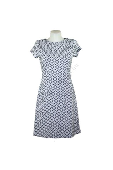 Eredeti NEXT női ruha, kellemes pepita színben, rugalmas anyagú, kevertszálas anyagösszetételű (68 % poliester, 31% viskose, 1% elasztán) kényelmes viseletet biztosít, beleírt méret:uk8, S méretben, állapota: újszerű, mért adatok: váll szélesség: 35 cm me