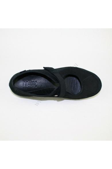 Eredeti HOTTER női bőr (velúr) kényelmi cipő, kellemes fekete színben, AURA modell, tépőzáras pánttal, kivehető talpbélése kényelmes viseletet biztosít, uk5 38 méretben Állapota: új és címke nélküli Belső talphossz: 24 cm Sarokmagasság: 3 cm