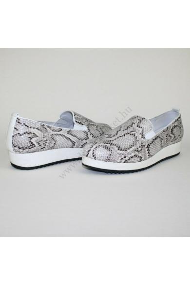 Eredeti HEAVENLY SOLES női bőr kényelmi cipő slip-one, kellemes fekete, fehér színvilággal, kívül-belül bőr anyagú, mindkét oldala gumis, extra puha kivehető talpbélése kényelmes viseletet biztosít, uk6E 40 méretben Állapota: új és címke nélküli Belső tal