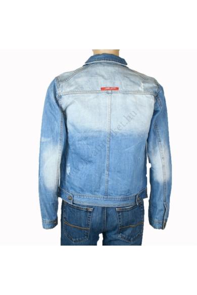 SIXTH JUNE férfi farmerkabát, kellemes kék, terepmintás színvilággal, ART:6J-KV137701C