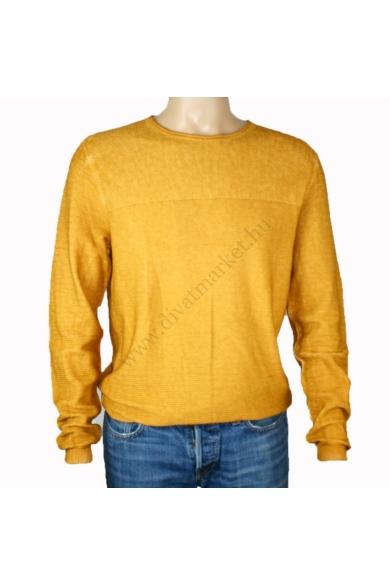 TOM TAILOR férfi pulóver, mustársárga színvilággal, 1012906.XX.10 modell