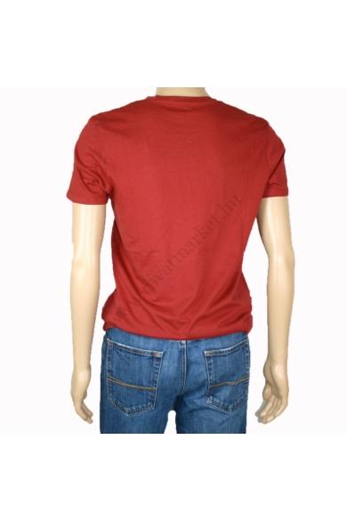 TOM TAILOR férfi rövid ujjú póló, bordó színvilággal, 1008171.XX.12 modell