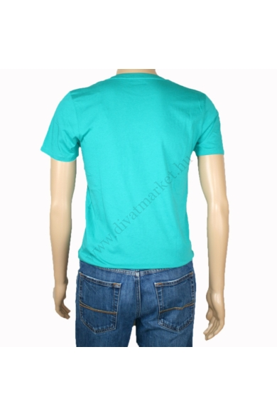 TOM TAILOR férfi rövid ujjú póló, türkiz színvilággal, 1008846.XX.12 modell