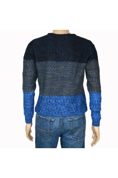 TOM TAILOR férfi kötött pulóver, kék színvilággal, 1006222.XX.10 modell