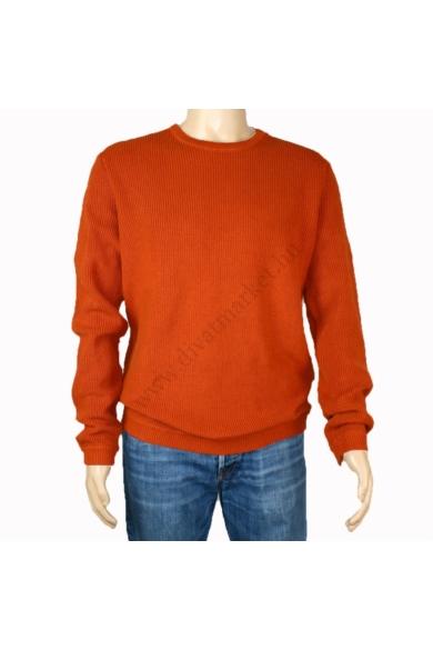 TOM TAILOR férfi kötött pulóver, rozsda barna színvilággal, 1003998.XX.12 modell