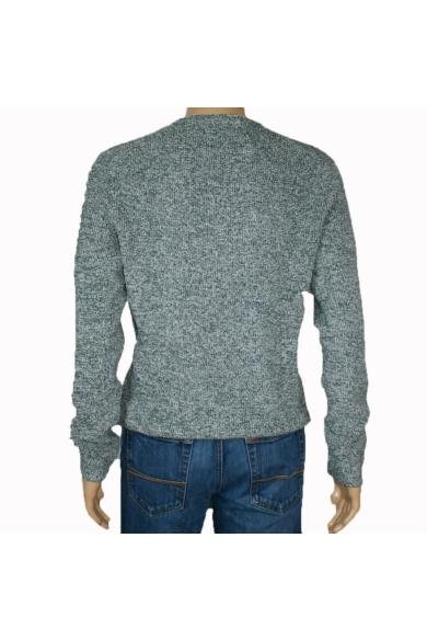 TOM TAILOR férfi vastag kötött pulóver, fehér és zöld színvilággal, 1006145.XX.12 modell