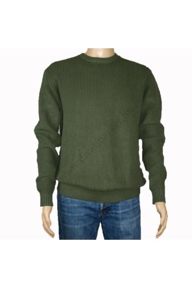 TOM TAILOR férfi vastag kötött pulóver, zöld színvilággal, 1013707.XX.12 modell