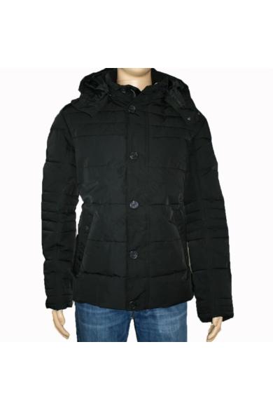 TOM TAILOR férfi téli vízálló kabát, fekete színvilággal, 1015051.XX.10 modell