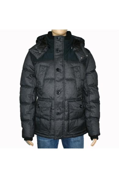TOM TAILOR férfi téli vízálló kabát, sötét szürke színvilággal, 1012120.XX.10 modell,