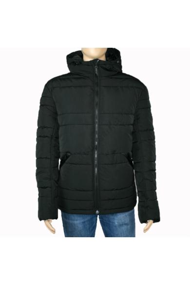 TOM TAILOR férfi téli vízálló kabát, fekete színvilággal, 1012100.XX.10 modell