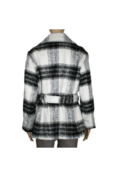 S. OLIVER női gyapjú kabát, fehér és fekete színvilággal, 46.809.51.4891 modell