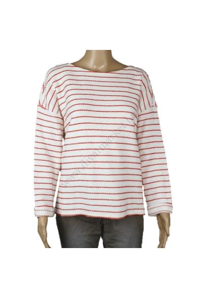 TOM TAILOR női pulóver, fehér színvilággal, 1002586.XX.71. modell