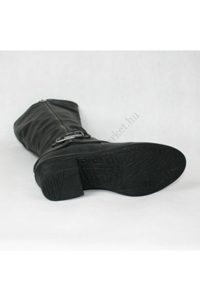 CITYLINE női magassarkú csizma, kellemes fekete színben, 1030945 modell