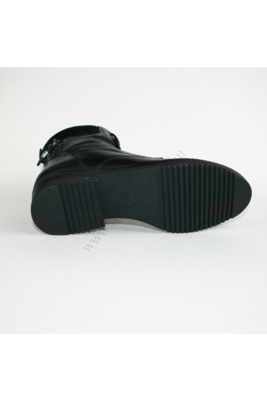 TOM TAILOR női bőr bakancs, fekete színben, 7999102 modell