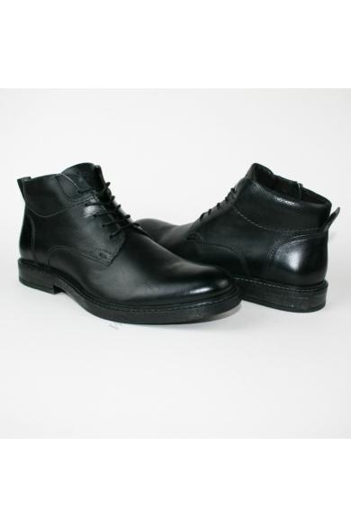MERCEDES férfi bőr magasszárú cipő/bakancs, fekete színben, 1031522 model