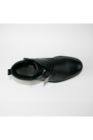 MERCEDES férfi bőr magasszárú cipő/bakancs, fekete színben, 1031522 modell