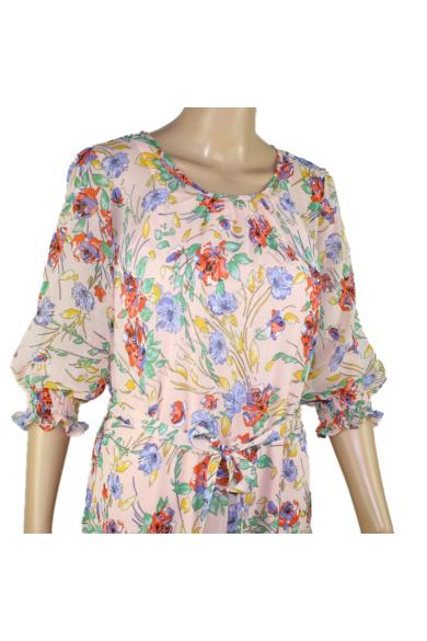 SISTERS POINT női ruha, kellemes virágos színvilággal, VYDA-DR1 modell