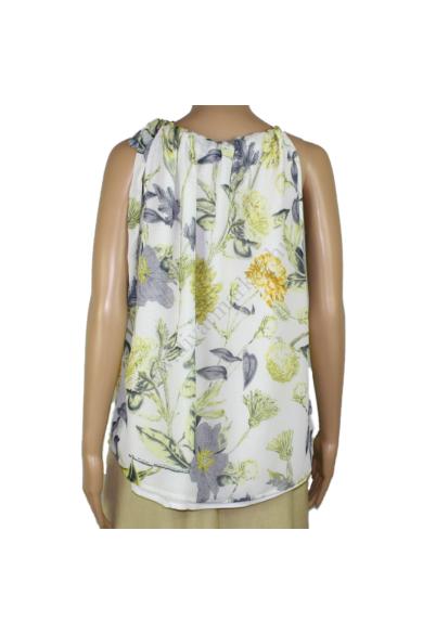 LOVE&DIVINE női felső/blúz, kellemes krém virágmintás színvilággal, LOVE244-9 modell,