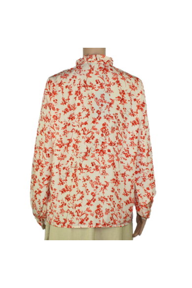SISTERS POINT női felső/blúz, kellemes krém piros virágmintás színvilággal, EFFI-SH modell