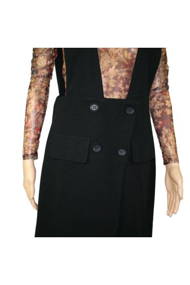 SISTERS POINT női ruha, kellemes fekete színvilággal, NEFFI-A modell,