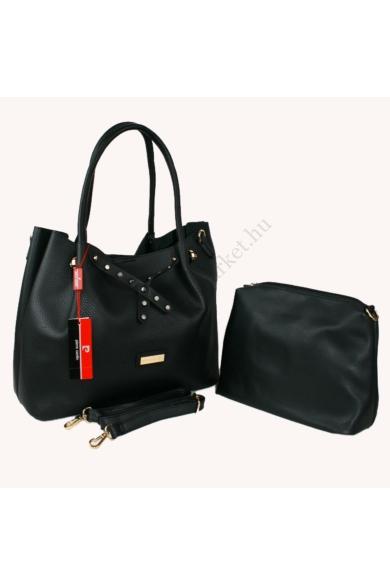 PIERRE CARDIN női nagy méretű táska fekete színben 6361 RX18 modell