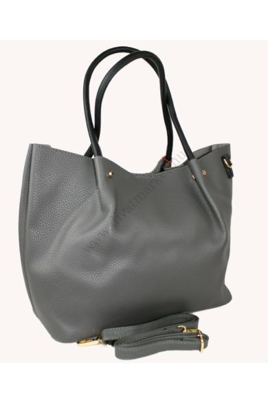 PIERRE CARDIN női nagy méretű táska szürke színben 6361 RX18 modell