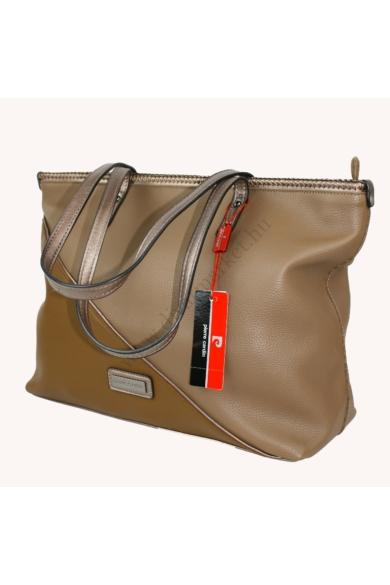 PIERRE CARDIN női nagy méretű táska bronz színben 7082 RX68 modell