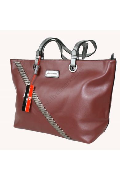PIERRE CARDIN női nagy méretű táska bordó színben 92613 IZA286 modell