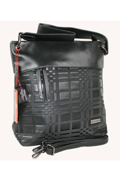 PIERRE CARDIN női nagy méretű táska fekete színben 1261 MS120 modell