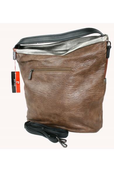PIERRE CARDIN női nagy méretű táska bordó és bronz színvilággal BORSA 12691 RX77 modell