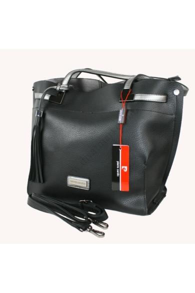 PIERRE CARDIN női nagy méretű táska fekete színben 33292 RX28 modell