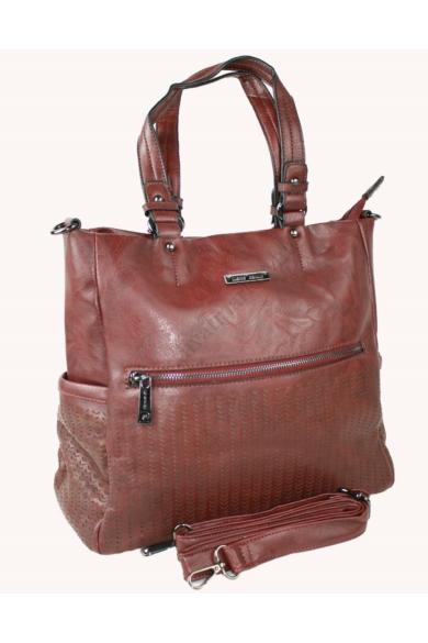 PIERRE CARDIN női nagy méretű táska bordó színben BORSA 3521 CLU03 modell