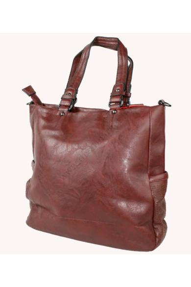 PIERRE CARDIN női nagy méretű táska barna és bordó színvilággal BORSA 7261 RX77 modell