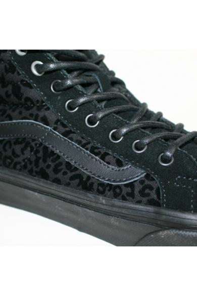 VANS SK8-HI SLIM CHEETAH női magasszárú sportos cipő sneaker, fekete színben, VN-0 QG39TT modell
