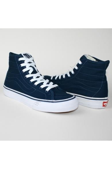 VANS SK8-HI DECON CANVAS magasszárú sportos cipő sneaker, kék színben, VN-0 18H1X4 modell