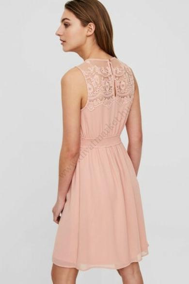 VERO MODA női elegáns ruha, kellemes rózsa színvilággal, 10193196 modell