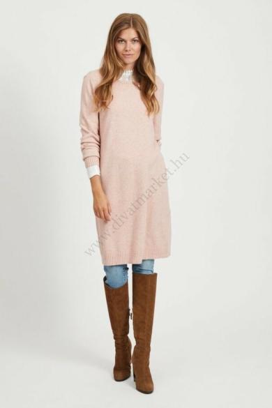 VILA CLOTHES női kötött ruha, kellemes rózsa színvilággal, 14042768 modell
