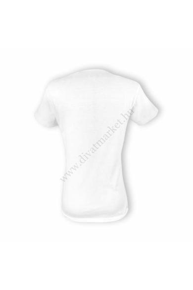 Dressa Cuore EKG szívdobbanás mintás pamut női póló - fehér