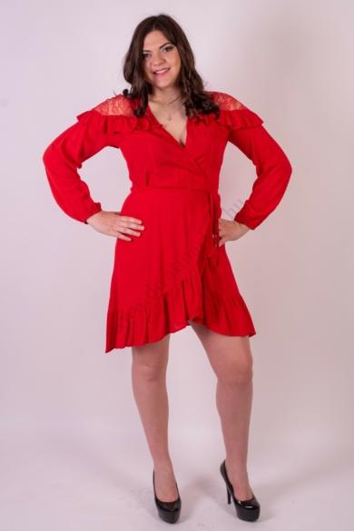 SISTERS POINT női ruha, kellemes piros színvilággal, GLOW-DR modell