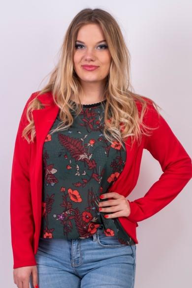 SISTERS POINT női blézer, kellemes piros színvilággal, NOTO-JA2 modell