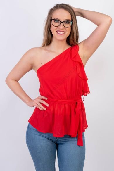 SISTERS POINT női felső/blúz, kellemes piros színvilággal, GERNO-T modell